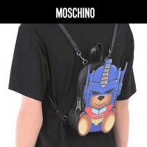 Moschino-051 時尚新品原單3D立體變形金剛小熊迷你雙肩包書包