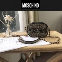 Moschino-046 歐美機車風滿天星鉚釘裝飾單肩斜挎包相機包