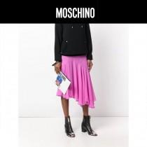 Moschino-059-2 早秋新品帥氣變形金剛小熊白色牛皮多功能手拿包手拎包