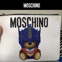 Moschino-054 時尚新品女士徽章系列多功能手拿包手拎包