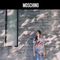 Moschino-069 大表姐劉雯同款紙殼小熊造型鏈條單肩斜挎包