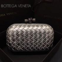 BV-00048 高貴奢華閃亮銀編織綿羊皮手拿包晚宴包