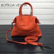 BV 193785-17 低調奢華橙色編織羊皮小號手提單肩包