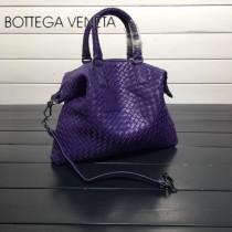 BV 193785-2 低調奢華紫色編織羊皮小號手提單肩包