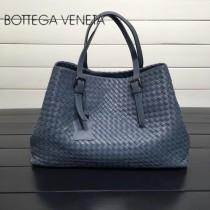 BV 272154-6 明星同款灰藍色編織羊皮大容量單肩購物袋