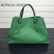 BV 272154-4 明星同款綠色編織羊皮大容量單肩購物袋