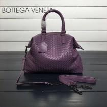 BV 193785-14 低調奢華紫色編織羊皮小號手提單肩包