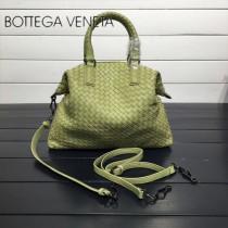 BV 193785-8 低調奢華芥末色編織羊皮小號手提單肩包