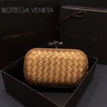 BV-00048-3 高貴奢華黃金色編織綿羊皮手拿包晚宴包
