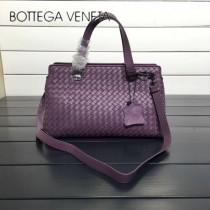 BV 168040-6 時尚新品紫色進口羊皮純手工編織小號手提單肩包