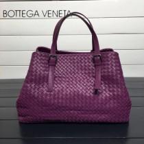 BV 272154-2 明星同款葡萄紫編織羊皮大容量單肩購物袋