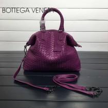 BV 193785-12 低調奢華葡萄紫色編織羊皮小號手提單肩包