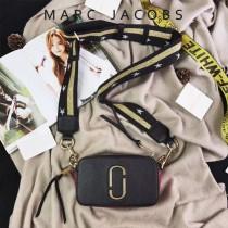 Marc Jacobs-001-6 宋佳趙麗穎同款Snapshot撞色復古金屬雙J扣D扣全新電鍍Logo相機包