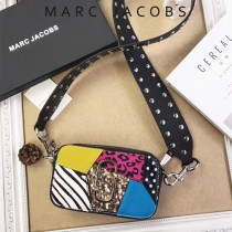 Marc Jacobs-001 宋佳趙麗穎同款Snapshot撞色復古金屬雙J扣D扣全新電鍍Logo相機包
