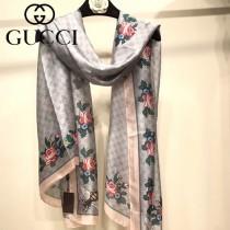 GUCCI特價圍巾-02 古馳秋冬新款雙G提花長款絲巾圍巾