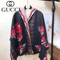 GUCCI特價圍巾-04 古馳秋冬保暖虎頭提花系列加厚款羊絨圍巾披肩