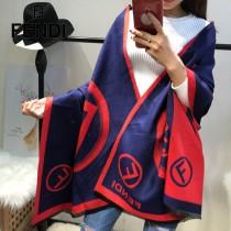 FENDI特價圍巾-01-5 芬迪專櫃同步羊絨款雙面用圍巾披肩
