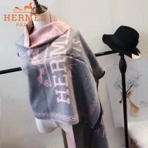 HERMES特價圍巾-0112 新款專櫃同步羊絨兩面用圍巾披肩