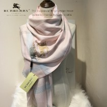 Burberry特價圍巾-01-3 巴寶莉新款來襲秋冬保暖絲滑面料刺繡LOGO長款圍巾