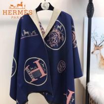 HERMES-0110-4特價圍巾 愛馬仕秋冬新款馬拉車標誌圖案羊毛混紡加厚款圍巾披肩