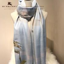 Burberry特價圍巾-01 巴寶莉新款來襲秋冬保暖絲滑面料刺繡LOGO長款圍巾