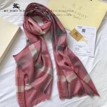 Burberry特價圍巾-01-5 巴寶莉新款來襲秋冬保暖絲滑面料刺繡LOGO長款圍巾