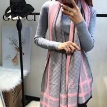 GUCCI特價圍巾-08-4 古馳專櫃同步保暖羊絨款雙面用圍巾披肩