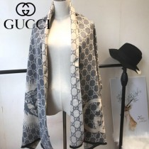 GUCCI特價圍巾-09-2 古馳專櫃同步保暖羊絨款雙面用圍巾披肩