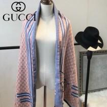 GUCCI特價圍巾-07-2 古馳蜜蜂系列羊絨款雙面用圍巾披肩