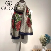 GUCCI特價圍巾-05-3 古馳春秋新款雙G提花系列長款圍巾絲巾