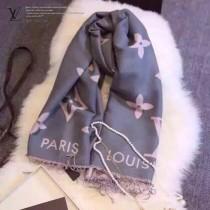 LV特價圍巾-1-3 迪麗熱巴同款頂級版經典logo花紋圖案雙面用百搭圍巾披肩
