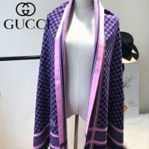GUCCI特價圍巾-08-5 古馳專櫃同步保暖羊絨款雙面用圍巾披肩