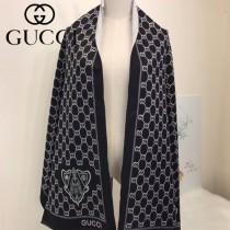 GUCCI特價圍巾-06-2 古馳專櫃同步盾牌系列保暖雙面用圍巾披肩