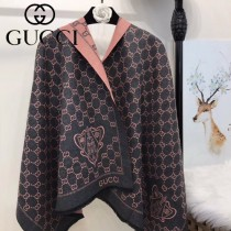 GUCCI特價圍巾-06 古馳專櫃同步盾牌系列保暖雙面用圍巾披肩