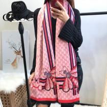 GUCCI特價圍巾-07-4 古馳蜜蜂系列羊絨款雙面用圍巾披肩