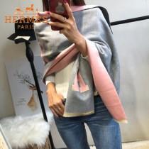 HERMES特價圍巾-1 愛馬仕新款專櫃同步羊絨款兩面用款圍巾披肩