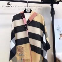 Burberry特價圍巾-002-2 新款刺繡羊絨款雙面用圍巾披肩