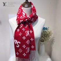 LV特價圍巾-116 supreme特別合作系列時尚窄版水貂絨面料兩面用圍巾