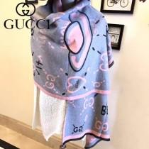 GUCCI特價圍巾-09-4 古馳專櫃同步保暖羊絨款雙面用圍巾披肩