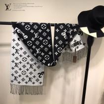 LV特價圍巾-116-2 supreme特別合作系列時尚窄版水貂絨面料兩面用圍巾