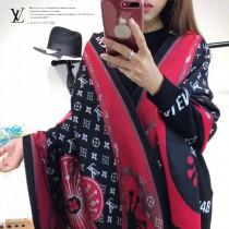 LV特價圍巾-118-2 LV經典款秋冬新款絲絨羊絨銀線混紡兩面用款圍巾披肩