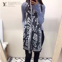 LV特價圍巾-120-5 兩面用最新款羊絨款圍巾披肩