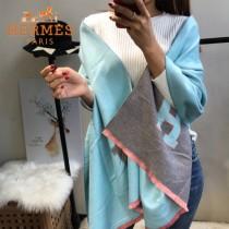 HERMES特價圍巾-1-2 愛馬仕新款專櫃同步羊絨款兩面用款圍巾披肩