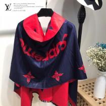 LV特價圍巾-115-2 supreme七彩編織新款專櫃同步羊絨雙面兩用款圍巾披肩