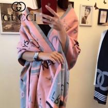 GUCCI特價圍巾-011-2 古馳專櫃同步當紅款羊絨雙面用長款圍巾披肩