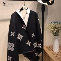 LV特價圍巾-115-5 supreme七彩編織新款專櫃同步羊絨雙面兩用款圍巾披肩
