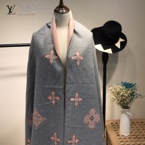 LV特價圍巾-115 supreme七彩編織新款專櫃同步羊絨雙面兩用款圍巾披肩