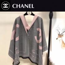 CHANEL特價圍巾-005-3 新款專櫃同步當紅款羊絨款雙面兩用圍巾披肩