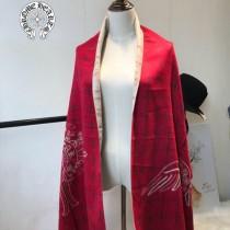 Chrome Hearts特價圍巾-001-4 新款羊絨兩面用圍巾披肩