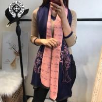Chrome Hearts特價圍巾-001-2 新款羊絨兩面用圍巾披肩